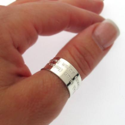 Sterling Silver Thumb Ring - Person..