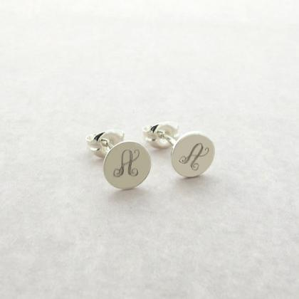 Monogram Earrings - Monogram Studs ..