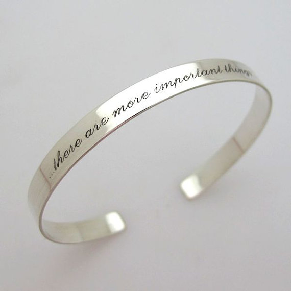 Inspirational Cuff Bracelet Sterling Silver Personalized Skinny Stacking