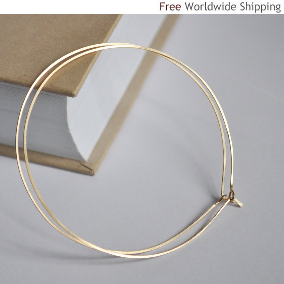 Classic Hoop Earrings in Gold Filled - Elegant Hoops - Medium Size Earrings for Women
